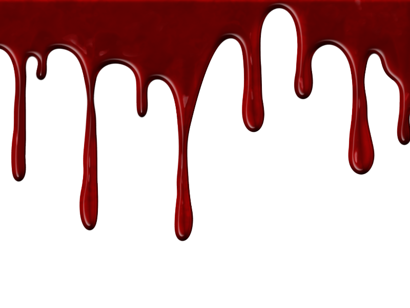 Blood stain png. Realistic dripping with transparent