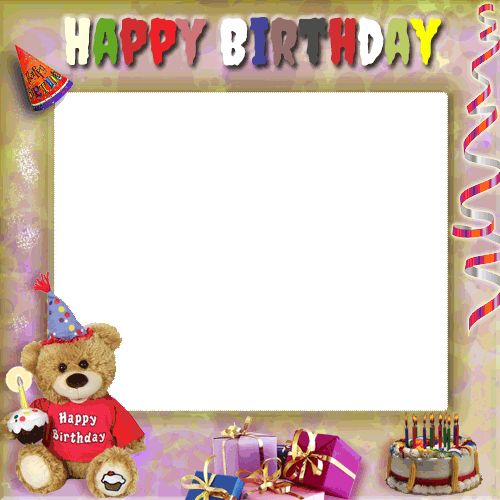 Create a transparent png online. Your birthday photo frame