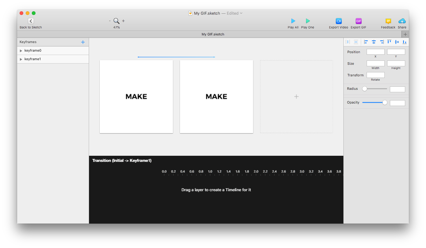 Create gif from png. How to convert sketch