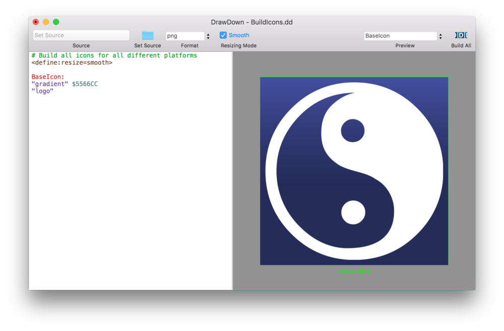 Create icon png. Automatically all your ios