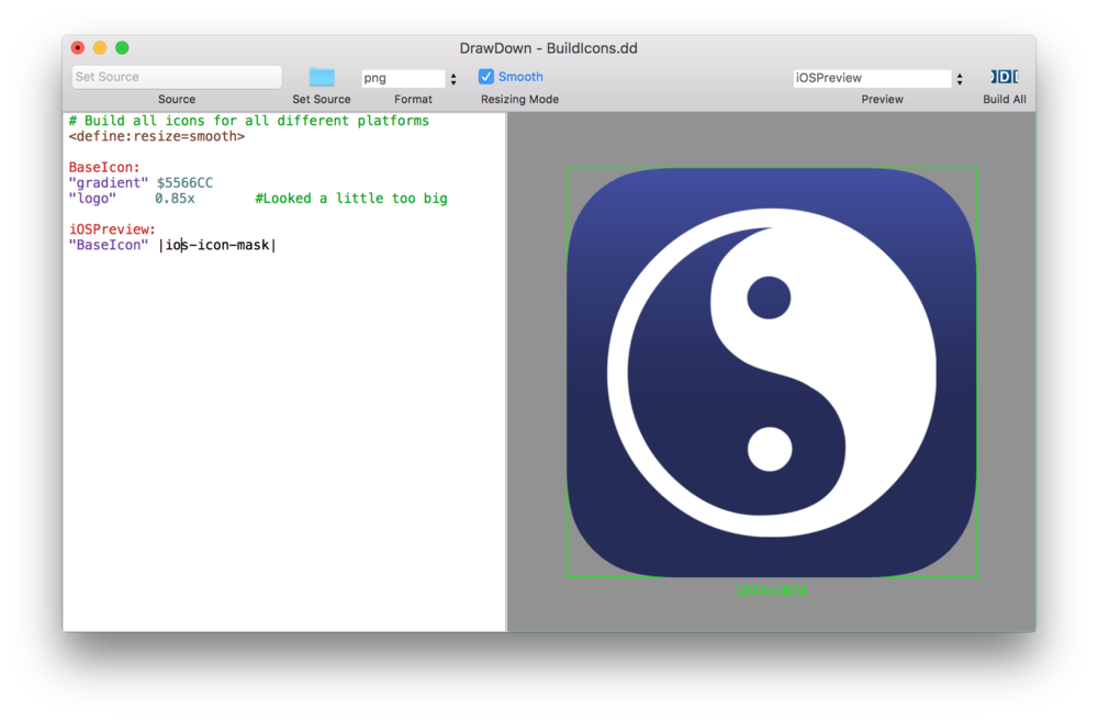 Create mac icon from png. Automatically all your ios