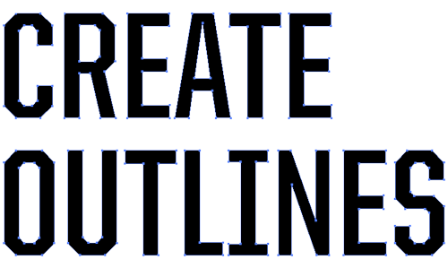 Create outlines png illustrator. Outlining fonts in for