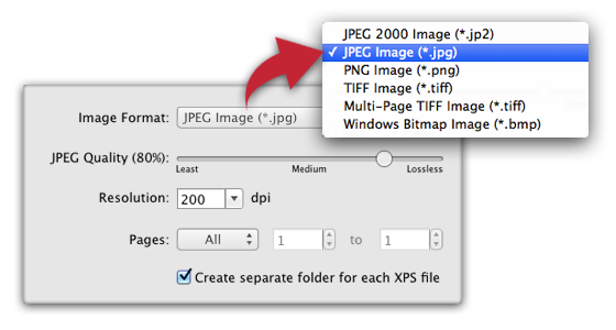 Create png from jpg. Xps to pdf convert