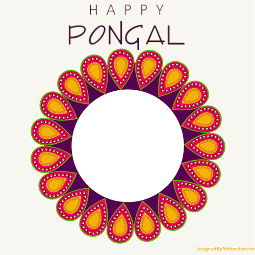 Create png online. Happy pongal wishes photo