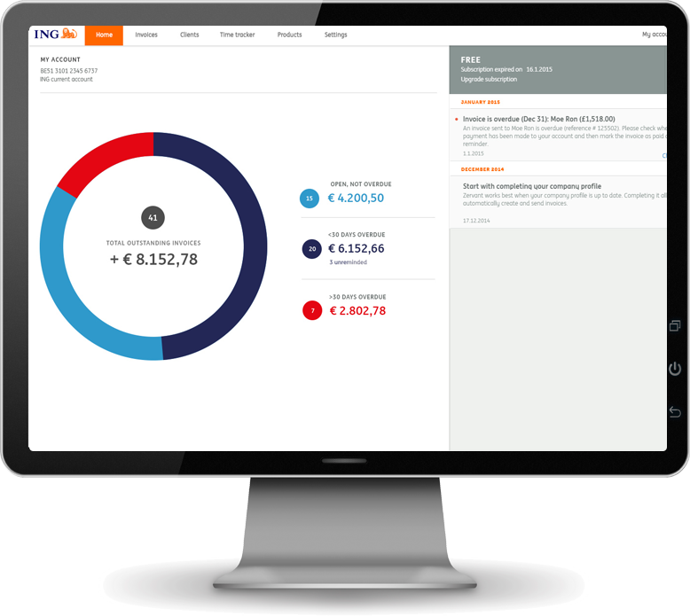 Create png online. Manage invoices with ing