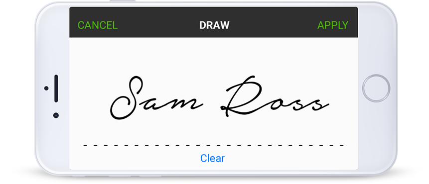 drawing phone email signature