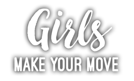 Create png text logo. Girls make your move