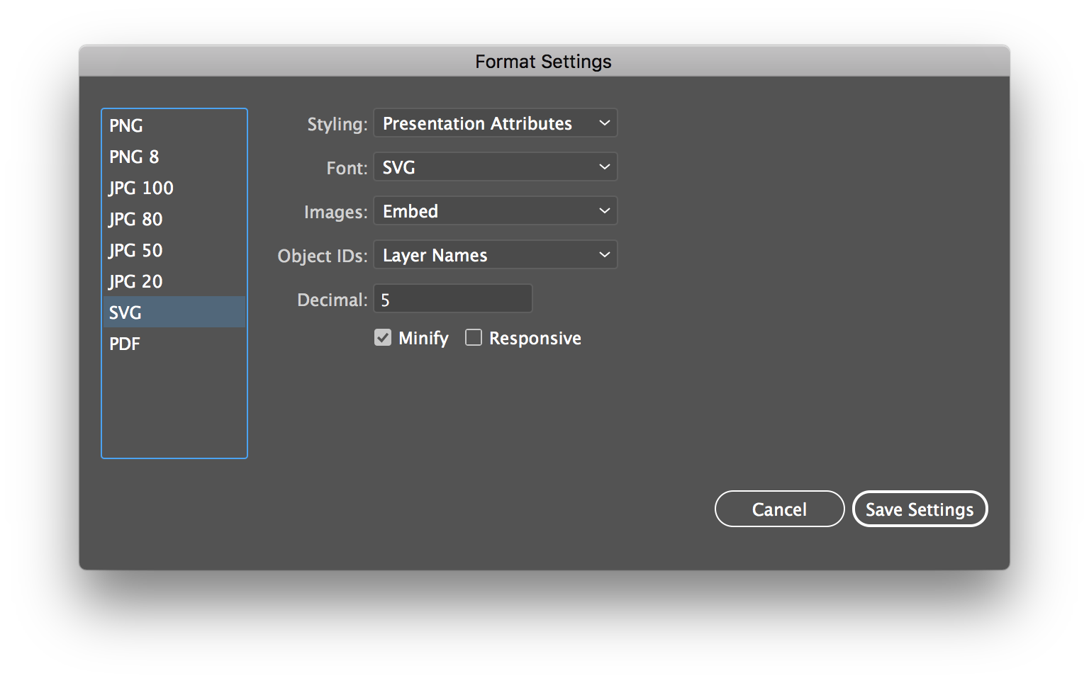 Create svg from png illustrator. How to export vector