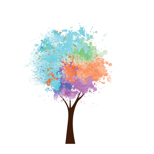 Create transparent png in paint. Oil colorful tree svg