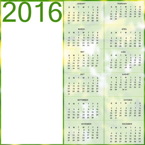 Create transparent png online free. New year calendar with