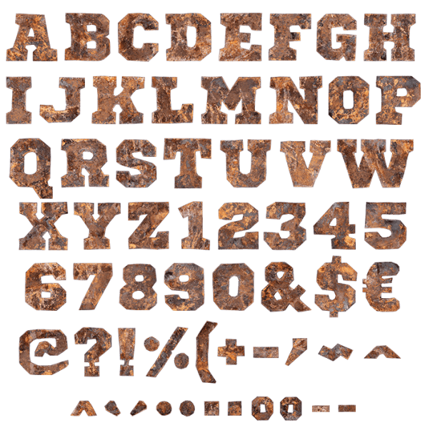 Create ttf font from png. Buy old time to