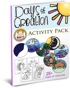 Preschool printables christian activity. Creation clipart created god world png free download