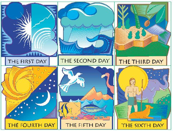 Creation clipart sixth day. Activity for lessons from