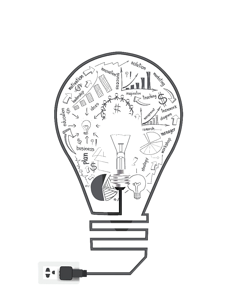 Bulb drawing creative. Creativity idea transprent png