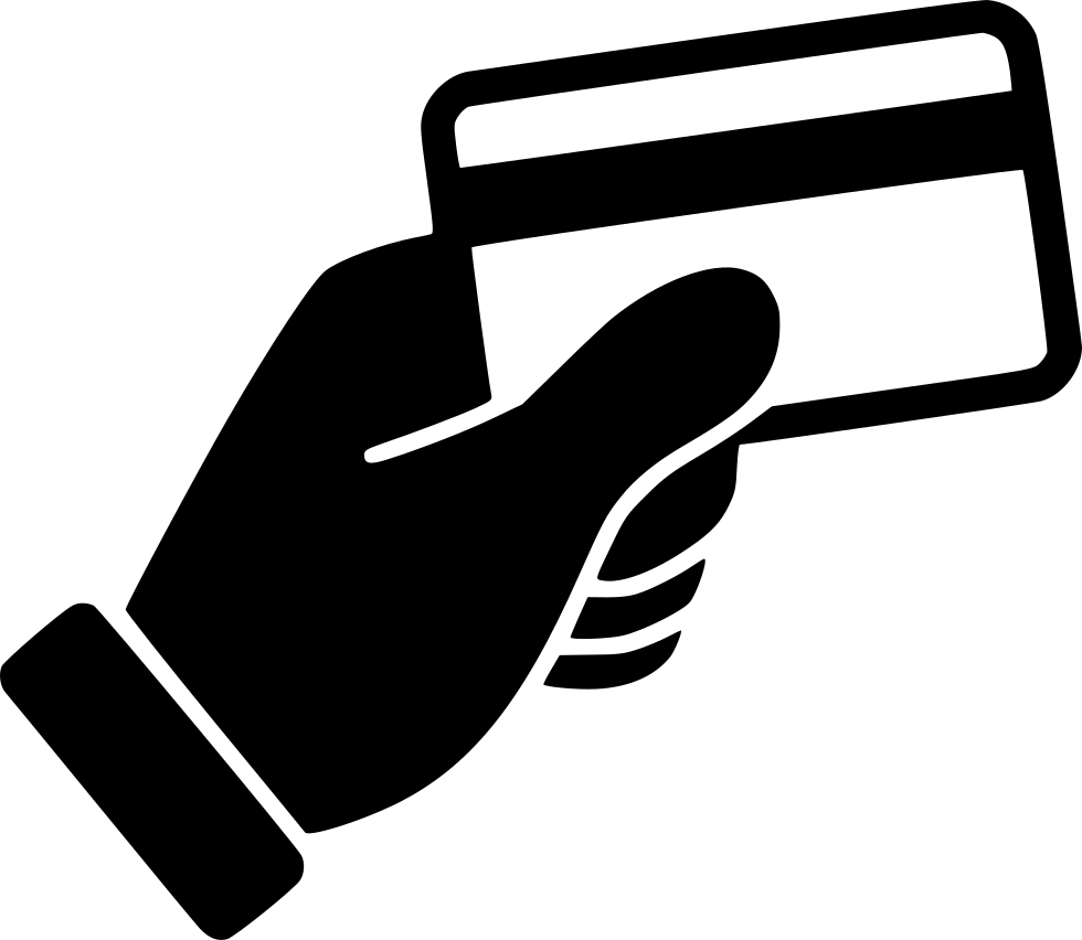 Hand holding keys icon png. Credit card swipe svg