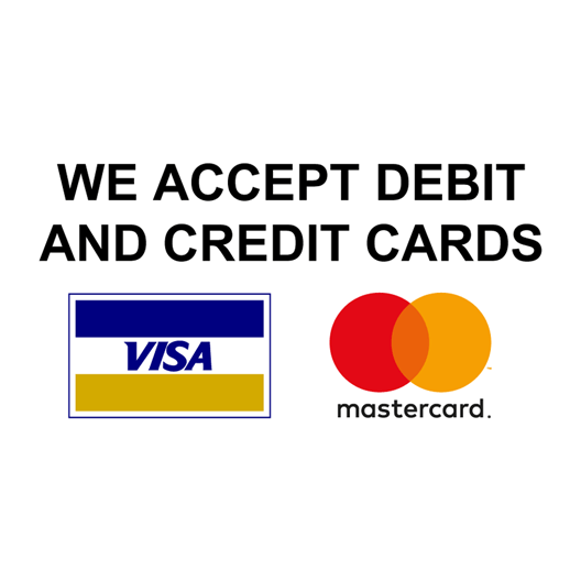 Credit cards accepted png. We accept debit and