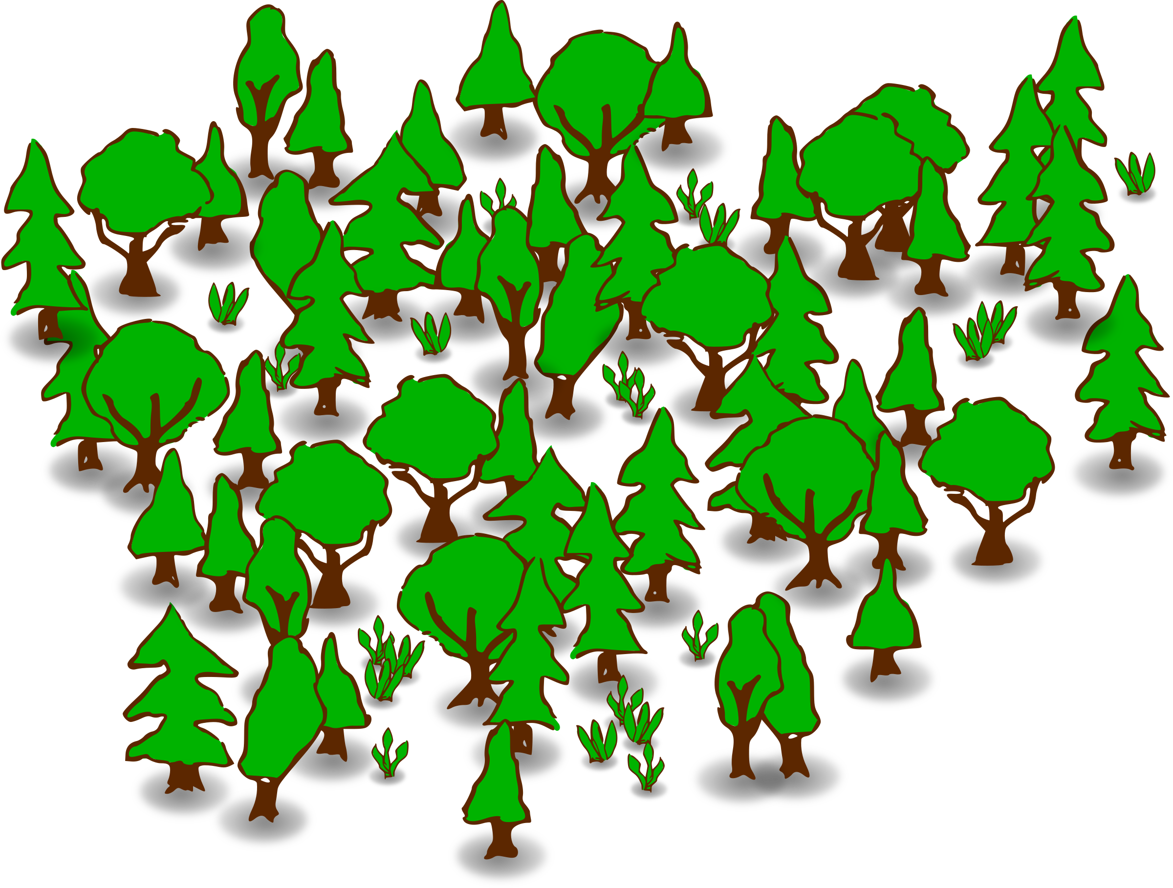 Pond vector forest clipart. Fores cute borders vectors