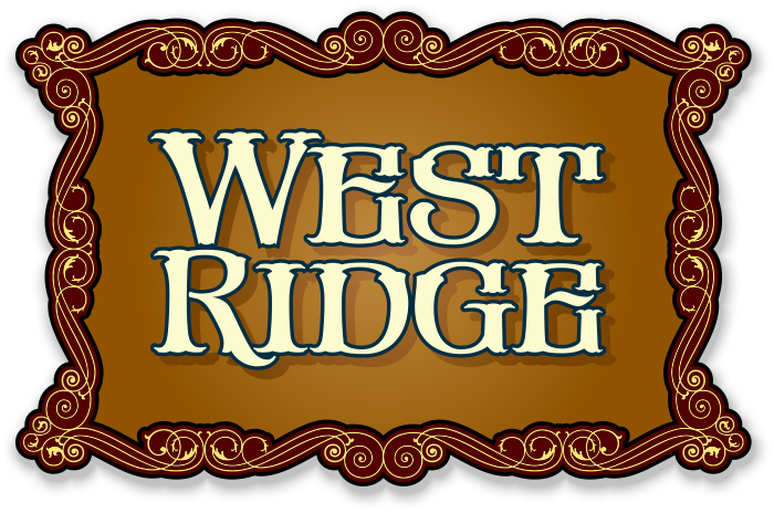 West ridge panel example. Creek vector clip royalty free library