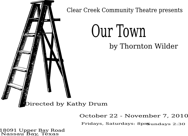 Creek vector town. Our poster clip art