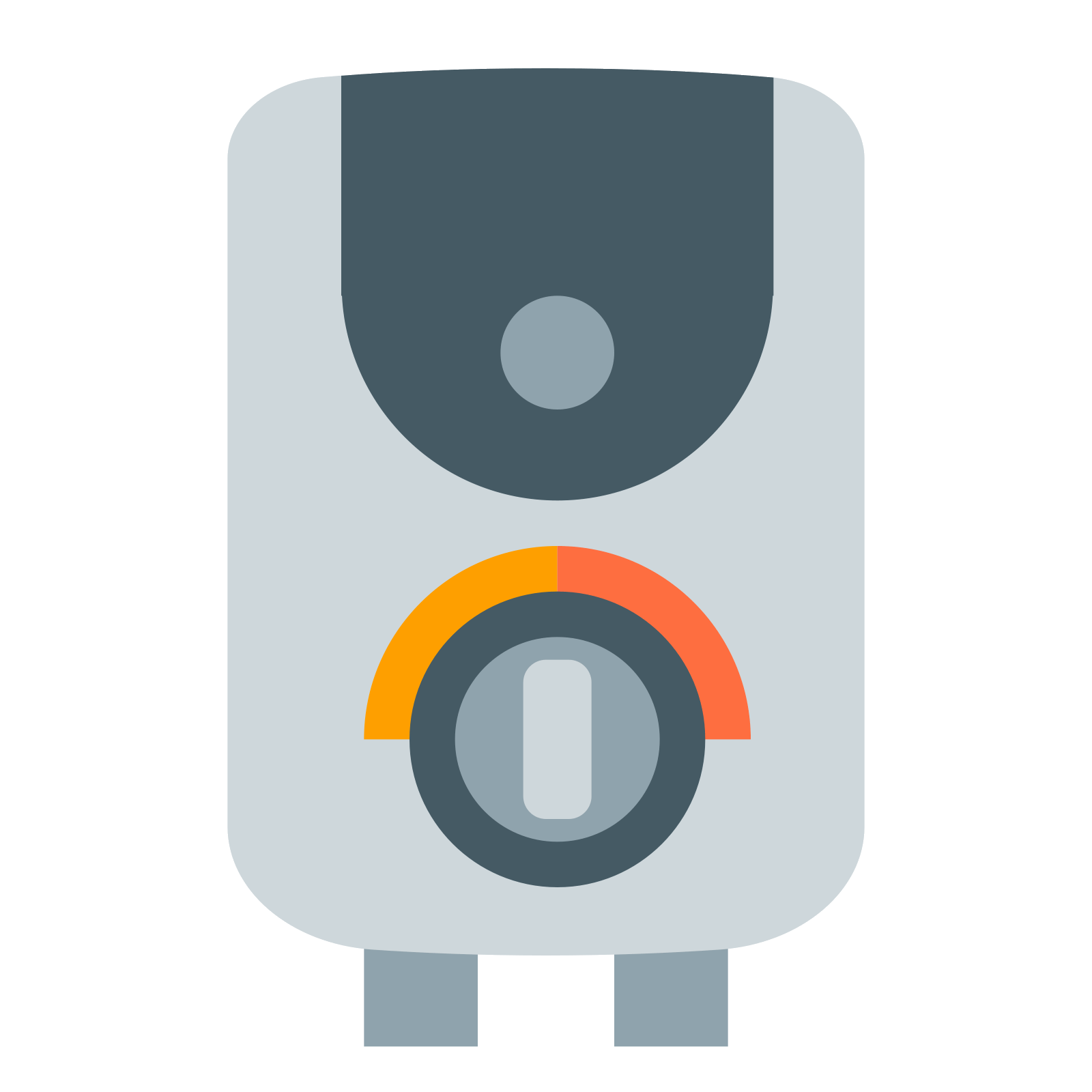 Heat vector furnace. Water heater icon free