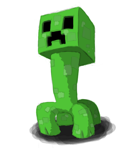 Creeper background png. Minecraft images transparent free