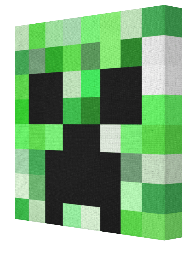 Creeper face png. Minecraft canvas pics on
