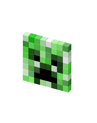 Creeper head png. Spinning favicon view on