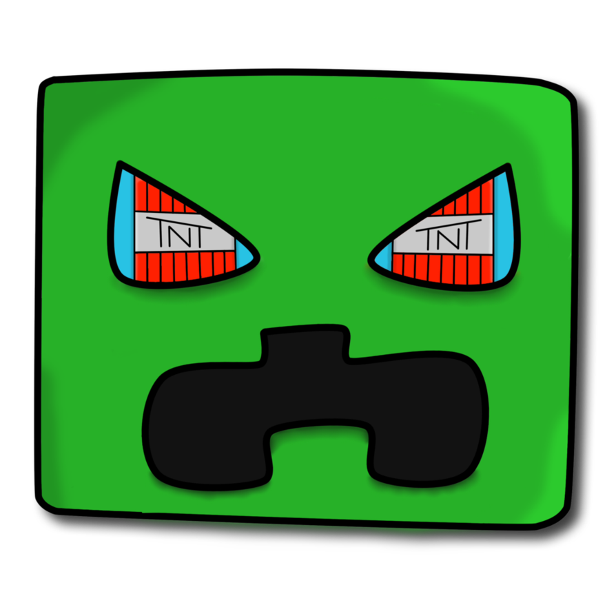 Creeper head png. Cartoon by kamclue on