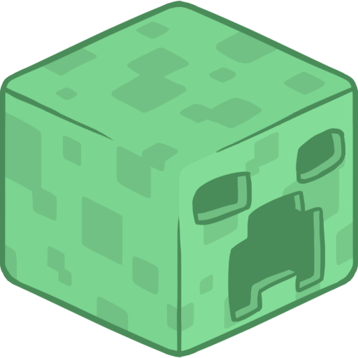 Creeper head png. Minecraft icon clipart image