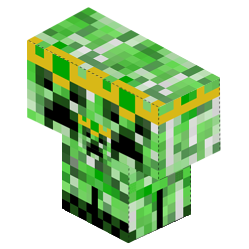 Creeper head png. Papercraft designs with tags