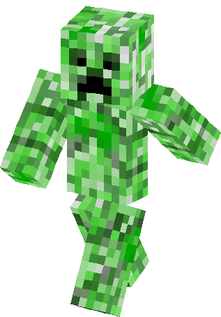 Creeper skin png. Minecraft skins
