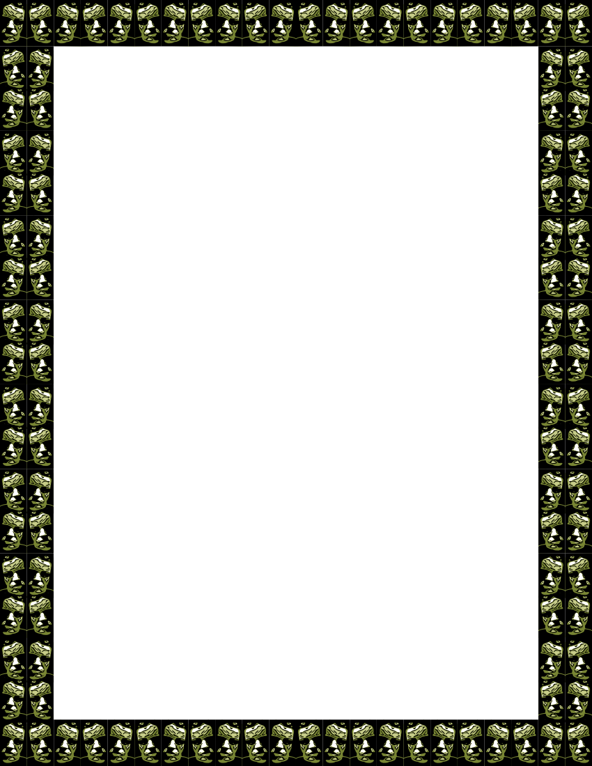 Creepy border png. Faces page frames more