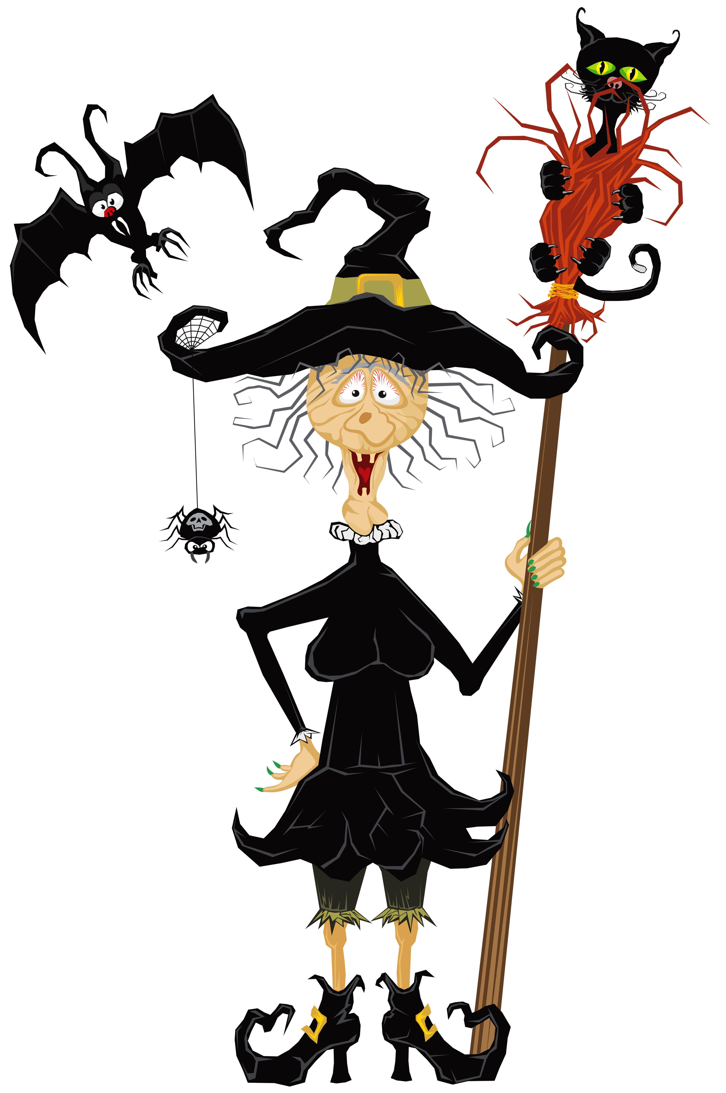 Creepy border png. Halloween witch clipart gallery
