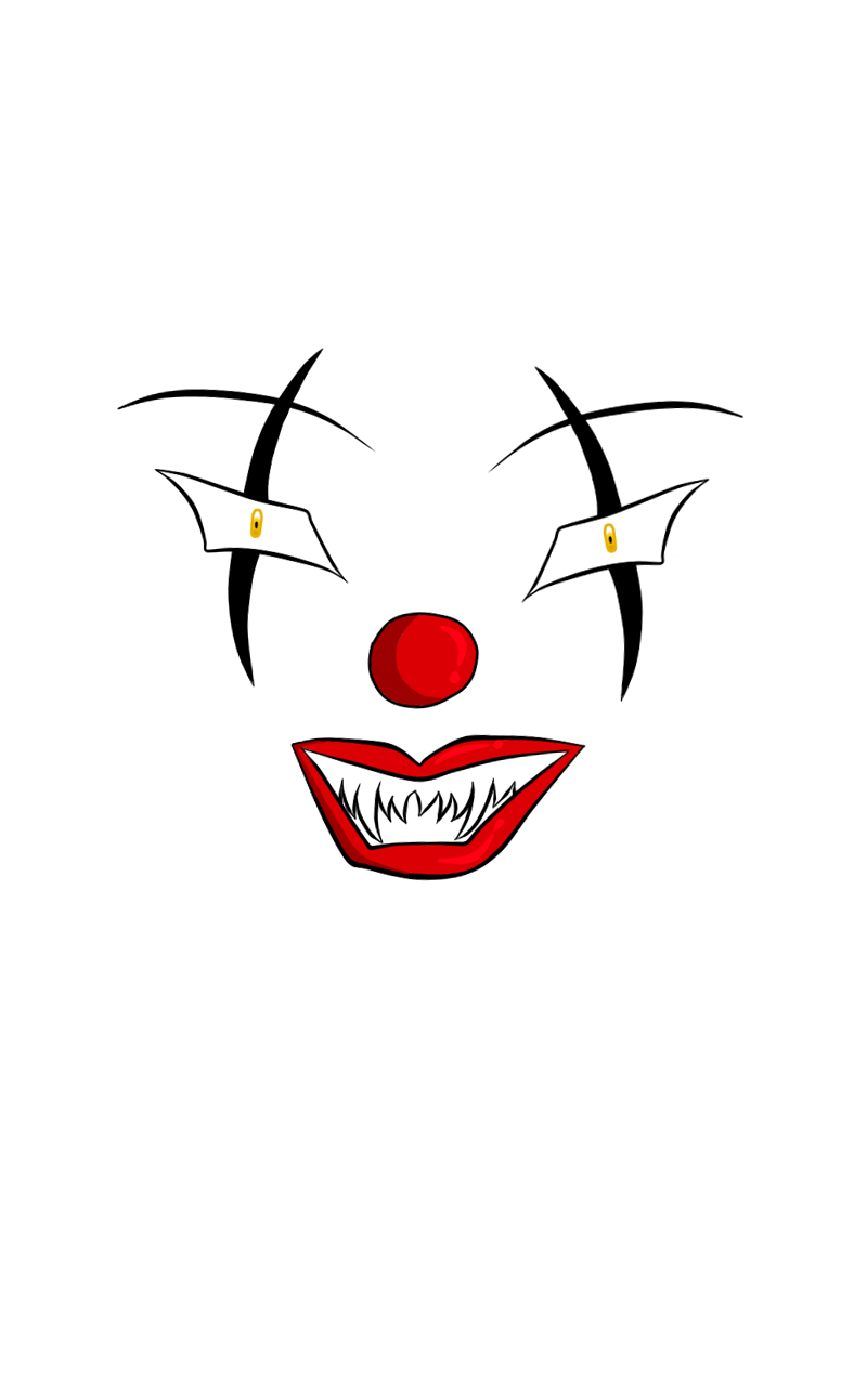 Creepy clown makeup png. Collection of mouth