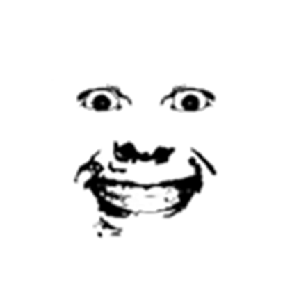 Creepy transparent. Roblox face png clipart royalty free