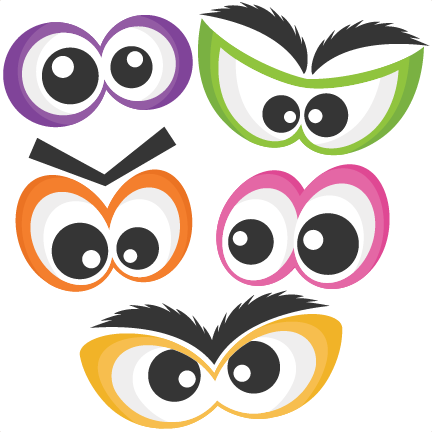 Eye clip cute. Halloween spooky set svg
