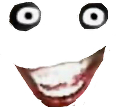 Creepy face png. Halloween roblox sticker costume