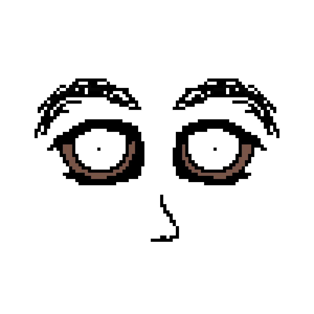 Creepy face png. Pixilart thingy by bean