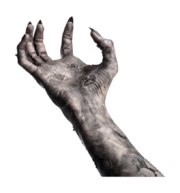 Creepy hands png. Scary witch dead horror