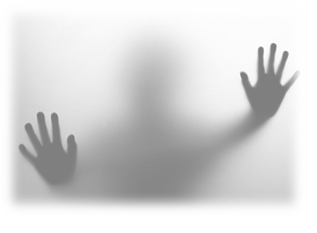 Creepy hands png. Ghost behind the glass