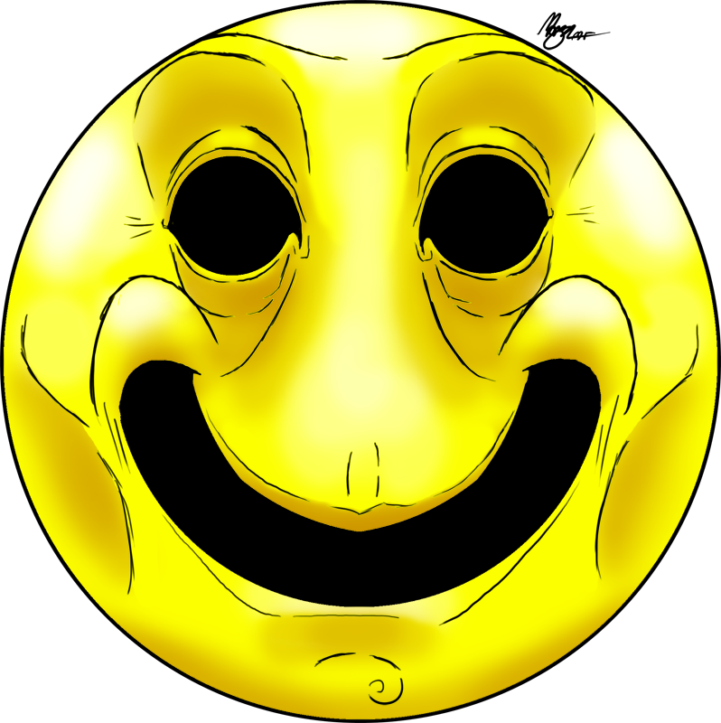 Creepy smiley face png. Happy by morganicism on