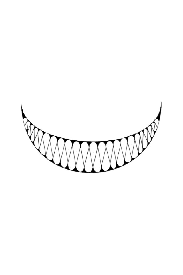 Creepy teeth png. Chelseagrin smile scary halloween