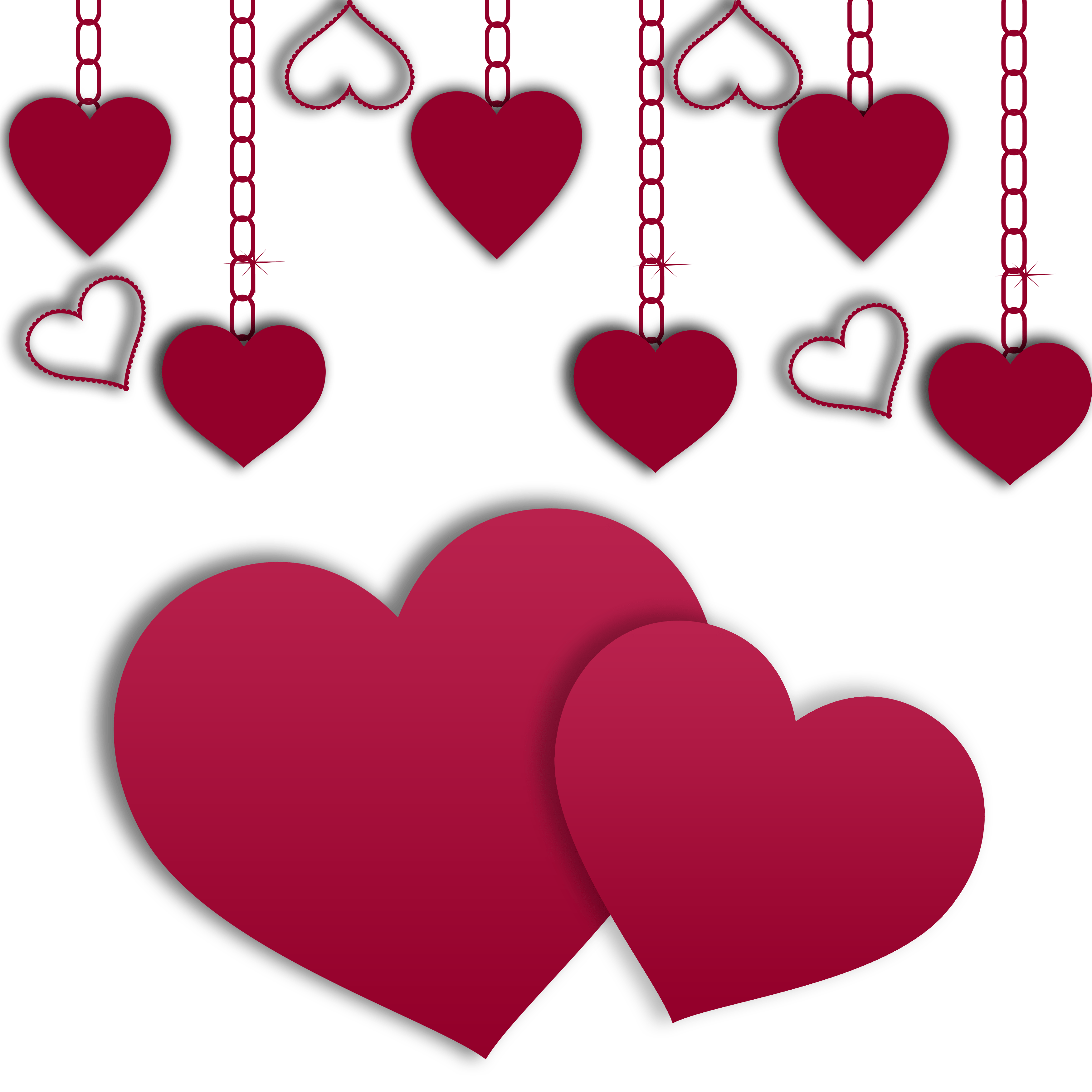 Creepy valentine png. Hearts illustration day download