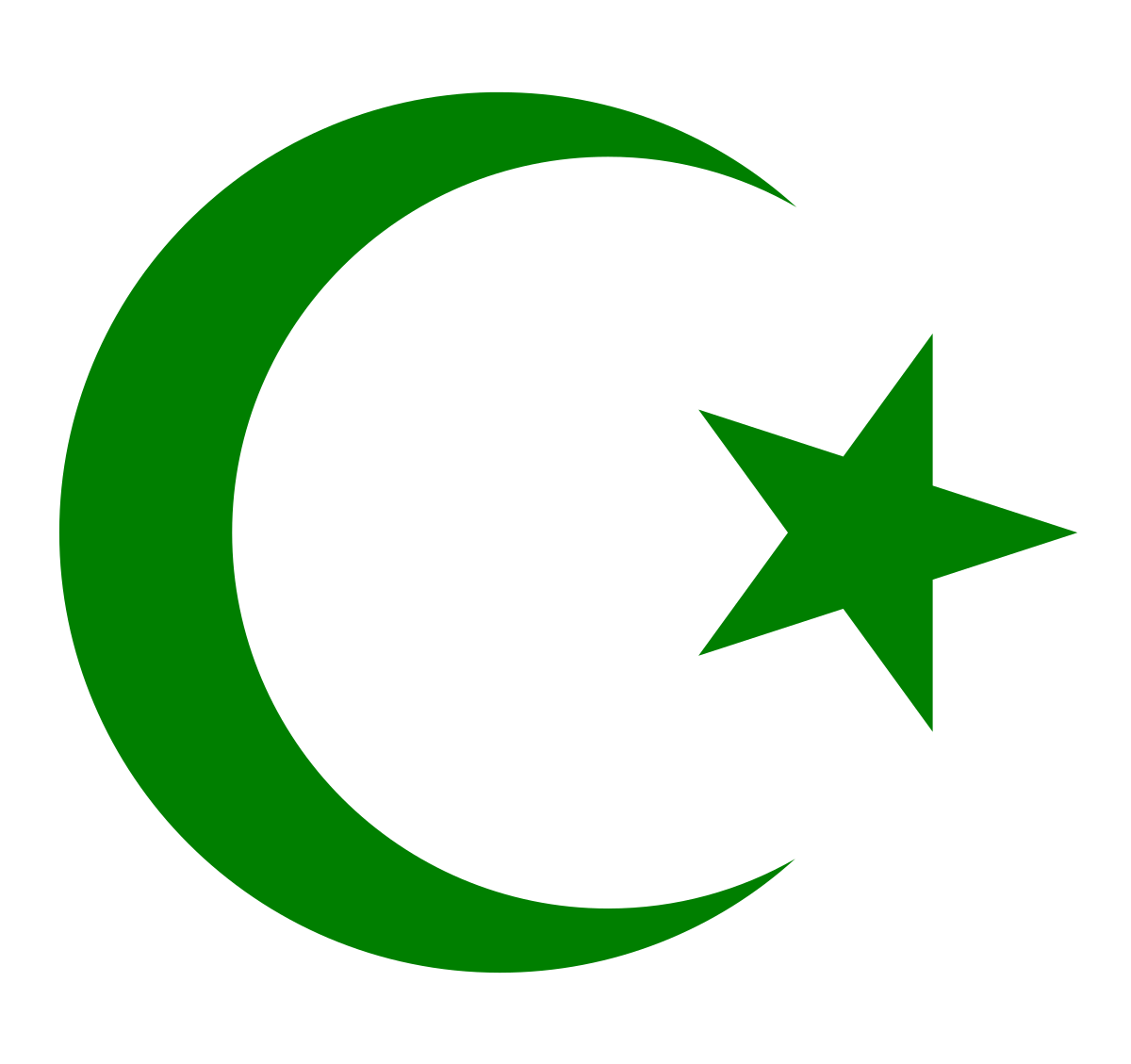 Muslim terrorist png. Crescent and star simple