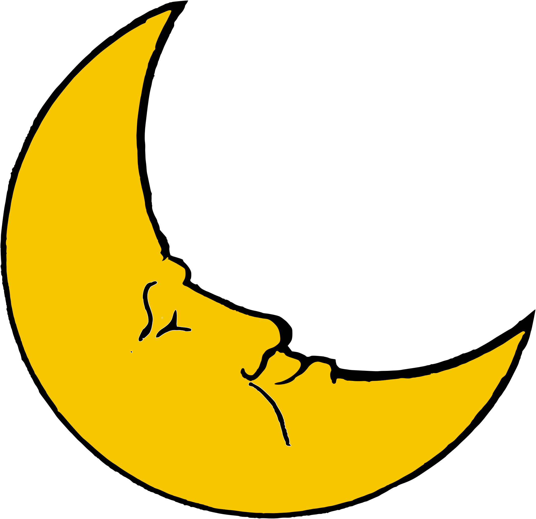 Crescent clipart half moon. Transparent png stickpng smiling