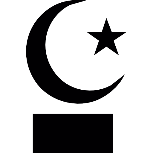 Crescent vector moon star. Islam and icons free