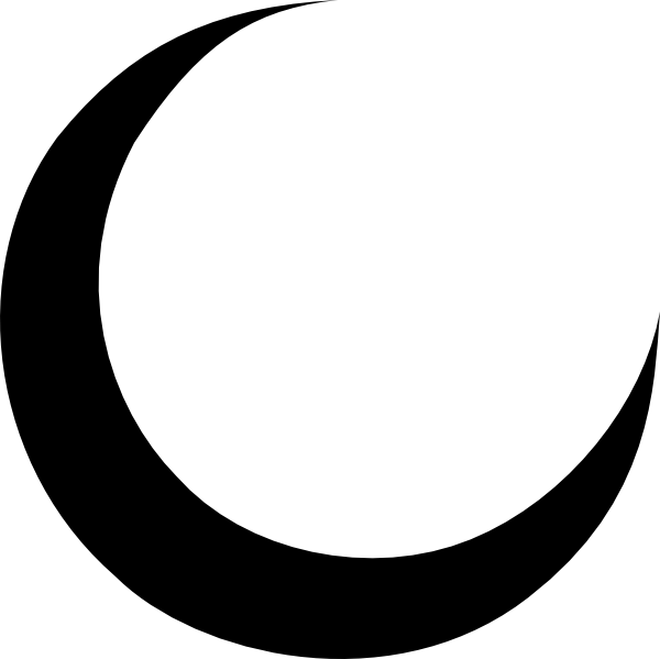 crescent vector arabic moon
