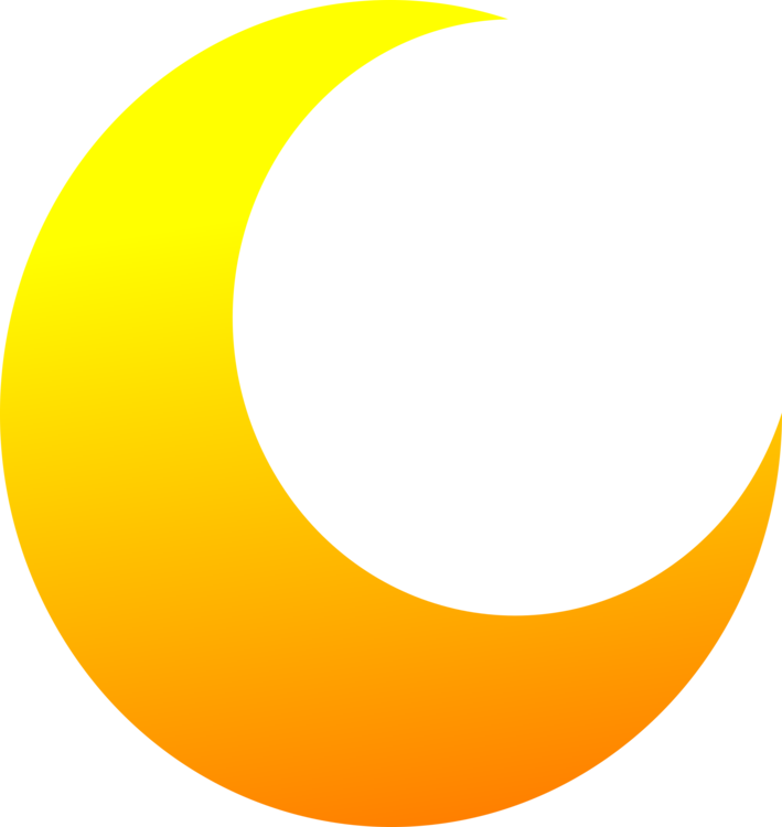 Crescent clipart logo. New moon lunar phase