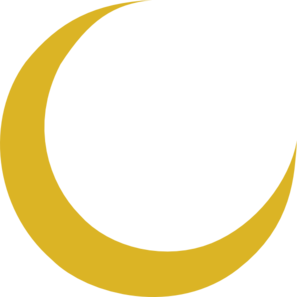 Crescent vector gold. New moon clipart at