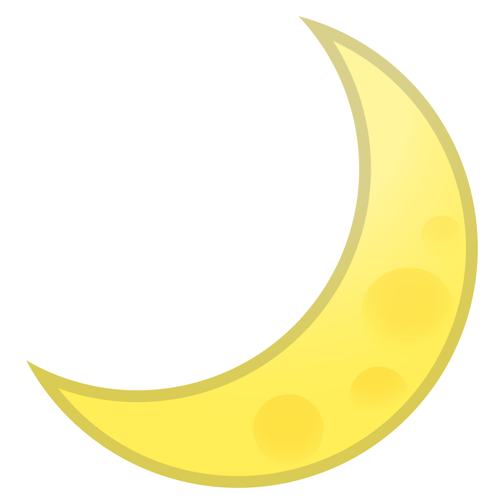 Crescent moon emoji png. Icon noto travel places